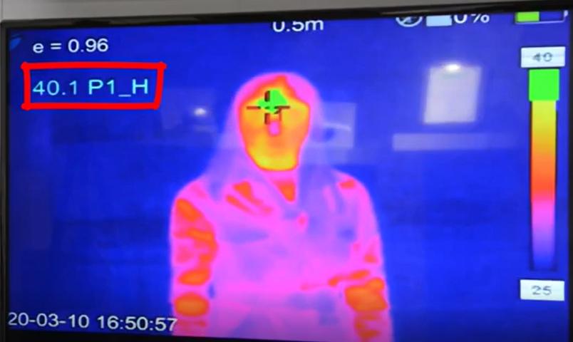 Ateş Ölçer Termal Kamera sistemi ile vücut ısısı ölçülerek tedbir alınması sağlanıyor.